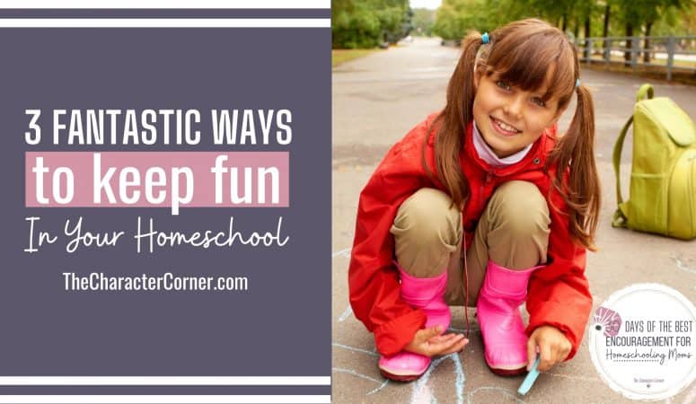 3 Fantastic Ways to Keep Fun In Your Homeschool