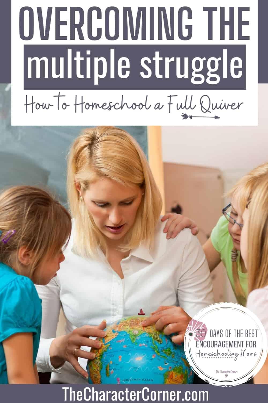 mom homeschooling multiple children