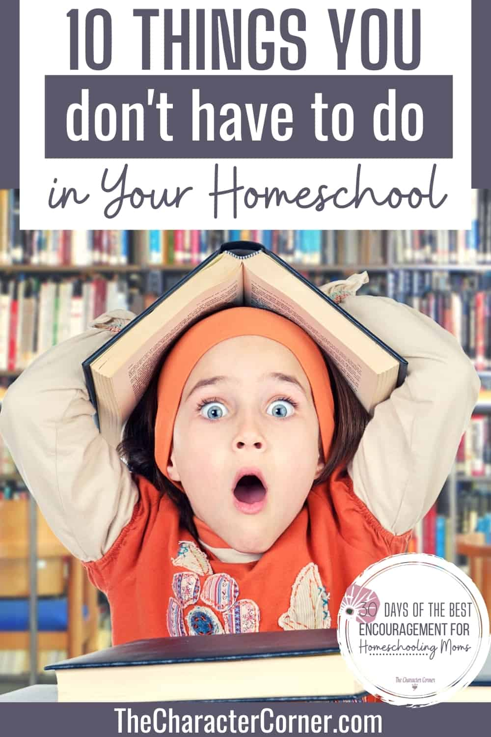 Girl surprised at what you Don't have to do in Your Homeschool