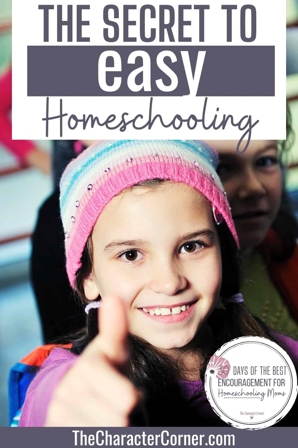 girl happy with thumbs up about easy homeschooling