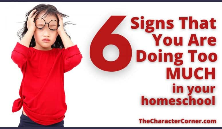 6 Signs That You Are Doing TOO MUCH In Your Homeschool