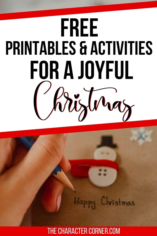 writing on christmas snowman printable activity