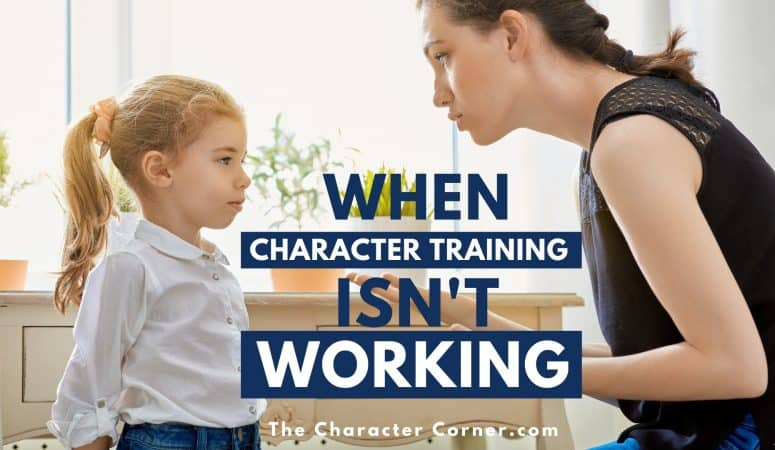 When Character Training Isn't Working